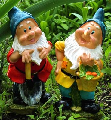 Комплект Гном огородник с корзинкой + Гном огородник с лопатой - фото 5006